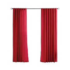 Outdoor Canvas Curtains Shop Solaris Canvas Solid 96 In Red Polyester Back Tab Light