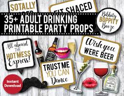 35 drinking printable photo booth props liquor photo