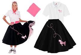 amazon com hip hop 50s shop 3 piece poodle skirt costume