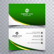 Round Business Cards Uk Modern Green Wave Business Card Vector Free Download