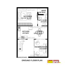 50 square yard home design house plan for 22 feet by 35 feet plot plot size 86 square yards