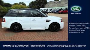 land rover range rover sport white range rover sport 3 0 sdv6 hse black edition white with a black