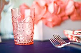 Coral Wedding Centerpiece Ideas by Navy And Neon Coral Wedding Color Inspiration
