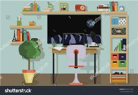 Subjects Of Interior Designing Desktop Computer Variety Subjects Stock Vector 281571200