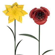 metal flower garden stakes e2e daffodil poppy metal garden stake flower bed box ornament