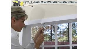 how to install inside wood and faux wood blinds american blinds