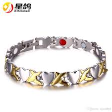 magnetic bracelet with copper images 2018 fashion jewelry healthy magnetic bracelet for woman heart jpg