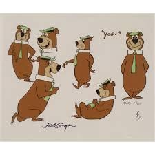 yogi bear yogi bear signed original model cel animation art 1960