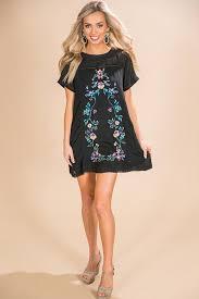 shift dress meet me in paradise shift dress in black impressions online boutique
