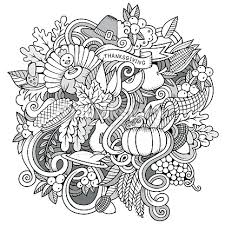 vector handdrawn doodle thanksgiving vector thinkstock