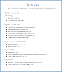 academic resume for college applications college admission resume sle high resume for college