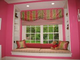 custom valance drapes and roman shade for nursery