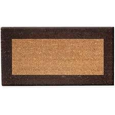 zerbino di cocco zerbino in fibra di cocco marrone 40x80cm antiscivolo tappeto