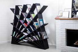 Triangle Shaped Bookcase Putting A Creative Spin On The Classical Bookcase Concept
