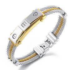 multi metal bracelet images Stainless steel men bracelet jewelry cubic zirconia punk heavy jpg
