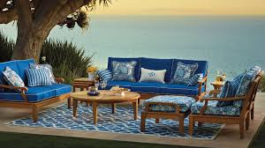 Frontgate Patio Furniture Clearance by Furniture Fascinating Decorating Ideas Using Round Brown Wooden