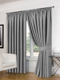 Heavy Grey Curtains Thermal Curtains Light Reducing Energy Saving Heavy Weave Top