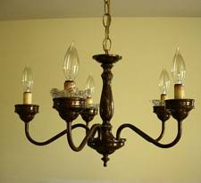 Painting Brass Chandelier Dining Room Brass Chandelier Makeover In My Own Style