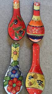 204 best spanish ceramics cuerda seca images on pinterest spanish ceramic pottery hand painted spoon rests various designs