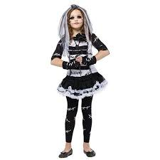 Cute Girls Halloween Costumes Monster Bride Girls Cute Horror Halloween Costume Walmart