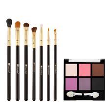 essential 7 piece makeup brush set bh cosmetics