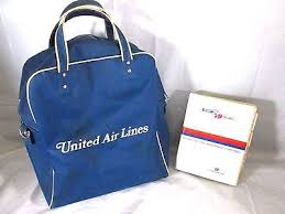 united charging for carry on bags vtg united airlines vacations vintage carry on blue travel tote