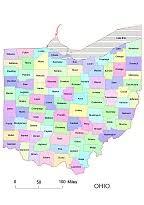 map of counties in ohio ohio