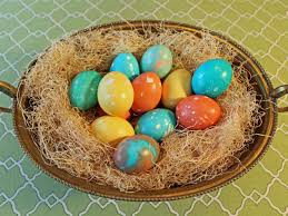 how to dye marbleized easter eggs hgtv