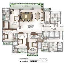 7000 Sq Ft House Plans Dlf Kings Court Delhi Discuss Rate Review Comment Floor Plan