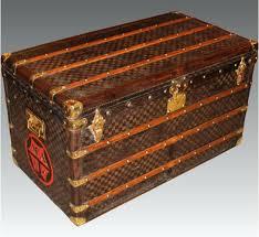 travel trunks images Antique suitcase large leather vintage luggage travel trunk box jpg