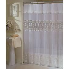 Lush Decor Ruffle Shower Curtain by Cream Ruffle Shower Curtain Interior Home Design Ideas