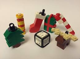 christmas tree decorations made with lego bricks