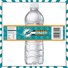 sports invites miami dolphins football bottle labels
