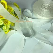silk grosgrain ribbon 25mm 90m white genuine solid silk grosgrain ribbon for
