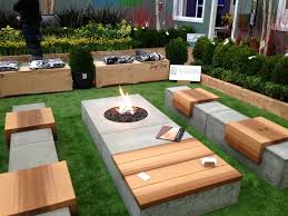 Designer Wooden Garden Bench by Concrete Patio Benches Home Design Ideas And Pictures