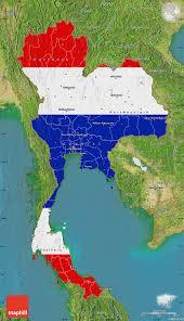 Outside Flag Flag Map Of Thailand Satellite Outside