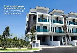 3 storey house puchong 3 storey superlink house 4300sf s puchong selangor 5