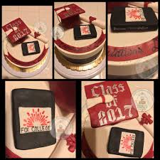 i made this custom fox college 2017 graduation cake degree of