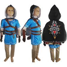 Zelda Costumes Halloween Kids Boys Legend Zelda Breath Wild Link