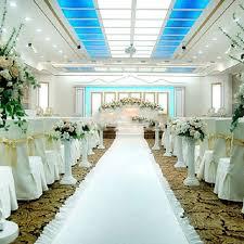 white aisle runner wedding party decoration carpet white rug aisle runner nonwoven