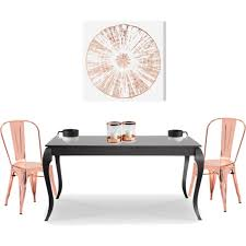 rose gold dining room polyvore