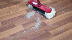 housekeeper cleaning wooden laminate floor mop stock footage