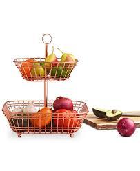 tiered fruit basket martha stewart collection copper tiered fruit basket created for