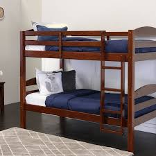 Twins Beds Amazon Com Walker Edison Solid Wood Twin Bunk Bed Espresso