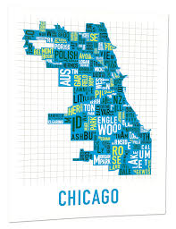 Us Map Chicago by Chicago Neighborhood Map Art Maps Of Usa