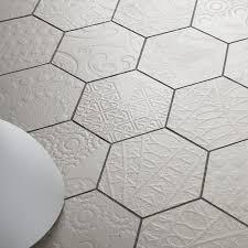 Hexagon Tile Bathroom Floor by 13 Best Hexagon Tiles Images On Pinterest Hexagon Tiles