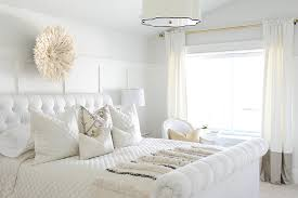 coastal style white modern bedroom furniture with tufted headboard
