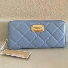 michael kors light blue wallet michael kors fulton wallet pale blue hair mkfactory