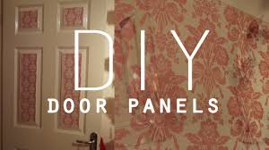 Diy Bedroom Decor by Diy Room Decorations Wallpaper Door Panels Youtube