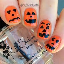 Halloween Nail Art Pumpkin - 33 perfectly fun halloween nail designs naildesignsjournal